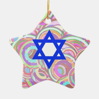 The Star and The Circles. Ceramic Star Ornament