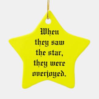 The Star Ceramic Star Ornament