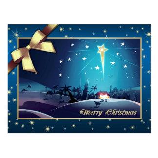 The Star of Bethlehem.  Christmas Postcard