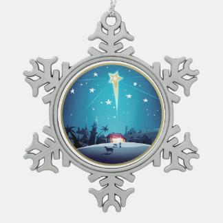 The Star of Bethlehem Christmas Snowflake Ornament