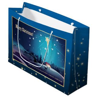 The Star of Bethlehem. Custom Christmas Gift Bags