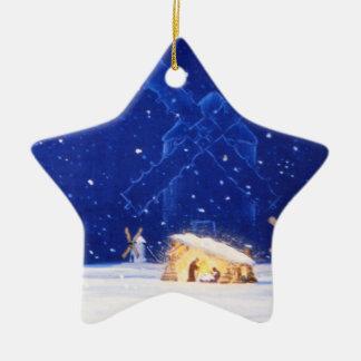 The Star of Bethlehem & DON QUIXOTE Ceramic Star Ornament