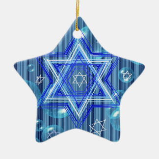 The Star of David and the bubbles. Ceramic Star Ornament
