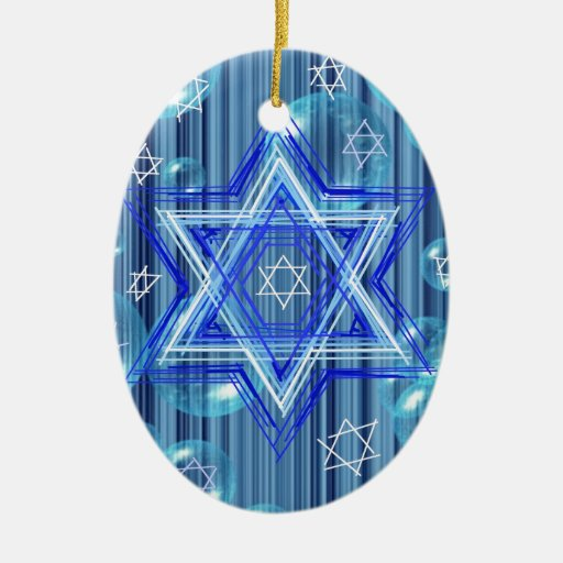 The Star of David and the bubbles. Christmas Tree Ornaments