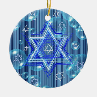 The Star of David and the bubbles. Ornament