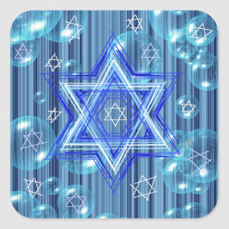 The Star of David and the bubbles. Square Stickers