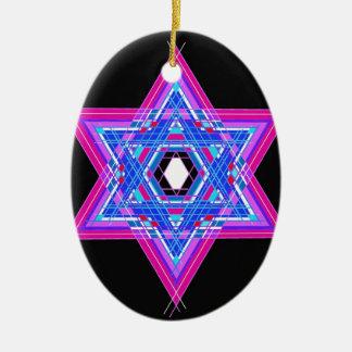 The Star of David Ceramic Oval Ornament