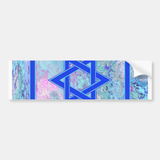 The Star of David on Marble Bumper Sticker