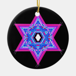 The Star of David Round Ceramic Ornament