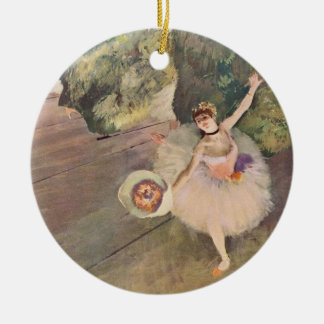 The Star of the Ballet by Edgar Degas Ceramic Ornament
