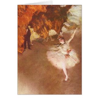 The Star (Prima Ballerina) by Edgar Degas Card