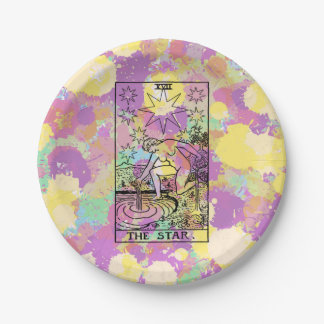 The Star Tarot Card Paper Plate