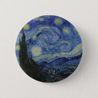 The Starry Night 1889 Vincent van Gogh 2 Inch Round Button