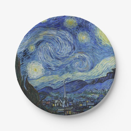 The Starry Night by Van Gogh 7 Inch Paper Plate