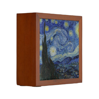 The Starry Night by Van Gogh Desk Organizer