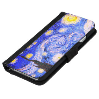 The Starry Night by Van Gogh iPhone 6 Wallet Case