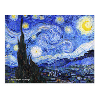 The Starry Night by Vincent Van Gogh Postcard