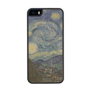 The Starry Night, June 1889 (oil on canvas) Carved® Maple iPhone 5 Case