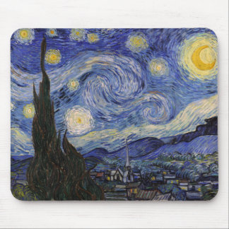 The Starry Night Mouse Pad