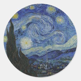 The Starry Night Round Sticker