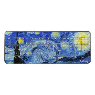 The Starry Night - Vincent Van Gogh Personalized Wireless Keyboard