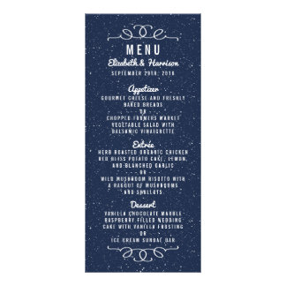 The Starry Night Wedding Collection - Menu Rack Card Design