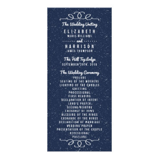 The Starry Night Wedding Collection - Program Customized Rack Card