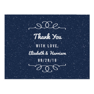 The Starry Night Wedding Collection - Thank You Postcard
