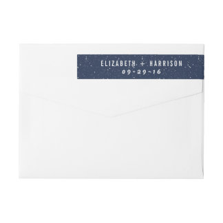 The Starry Night Wedding Collection Wraparound Return Address Label