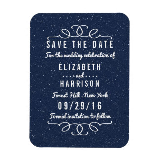 The Starry Night Wedding Save The Date Rectangular Photo Magnet