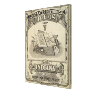 The State of Indiana Gallery Wrap Canvas