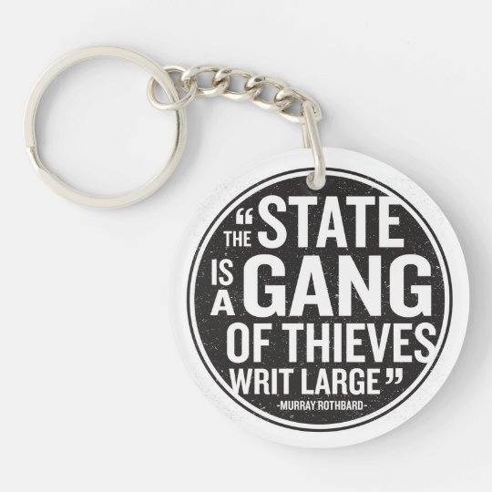 The State Single-Sided Round Acrylic Keychain