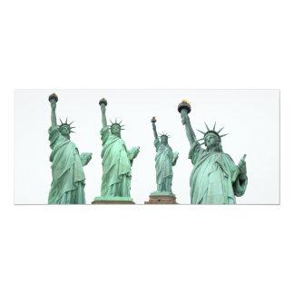 "The Statue of Liberty 4"" X 9.25"" Invitation Card"