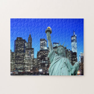 The Statue of Liberty and NYC Skyline Jigsaw Puzzle