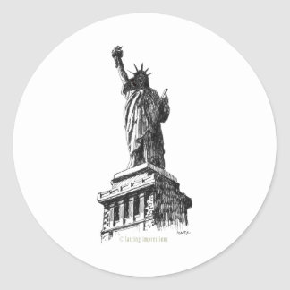 The Statue of Liberty Classic Round Sticker