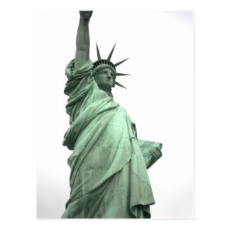 The Statue of Liberty in New York Harbor Postcard