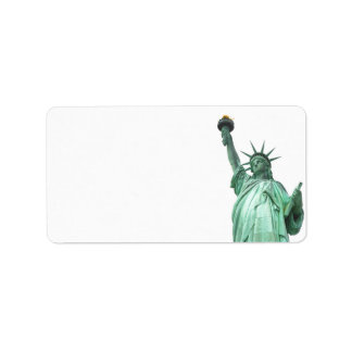 The Statue of Liberty, New York City Label