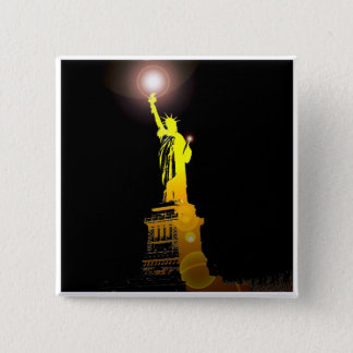 The Statue of Liberty, New York, USA 2 Inch Square Button