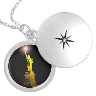The Statue of Liberty, New York, USA Locket Necklace