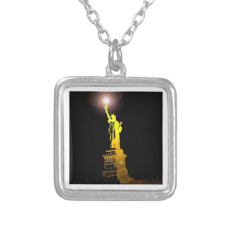 The Statue of Liberty, New York, USA Silver Plated Necklace