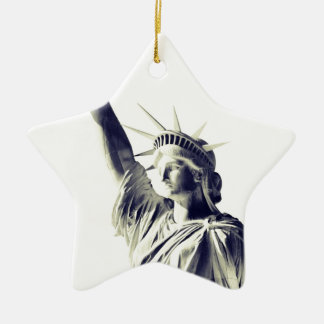 The Statue of Liberty, NYC Ceramic Star Ornament