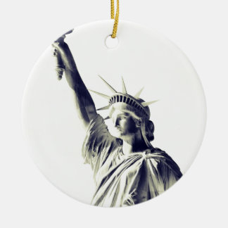 The Statue of Liberty, NYC Round Ceramic Ornament