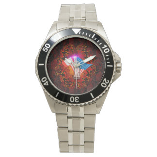 The Statue of Liberty with decorative floral elmen Wristwatch