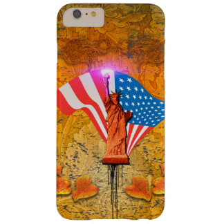 The Statue of Liberty with USA flag Barely There iPhone 6 Plus Case