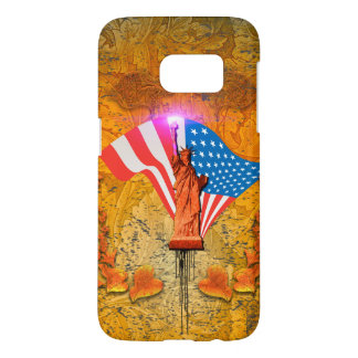 The Statue of Liberty with USA flag Samsung Galaxy S7 Case
