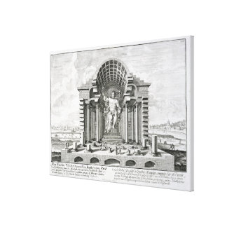 The Statue of Olympian Zeus by Phidias, plate 5 fr Canvas Print