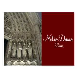 The Statutes of Notre Dame Postcard