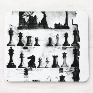 The Staunton Chessmen Patent Drawing Mouse Pad
