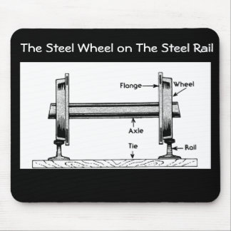 The Steel  Railway Wheel on The Steel Rail Mouse Pad