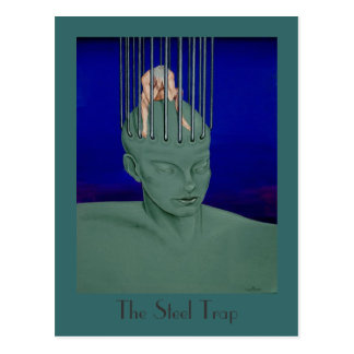 """The Steel Trap"" Surreal Fantasy Art Postcard"
